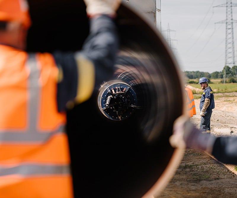 Arbeiter beim Pipelinebau