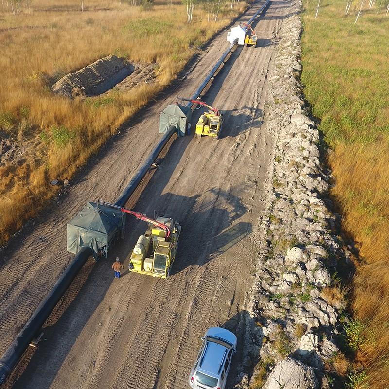 BRUA gas pipeline under construction
