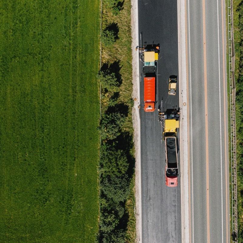 A9 Autobahn - Asphaltierungsarbeiten