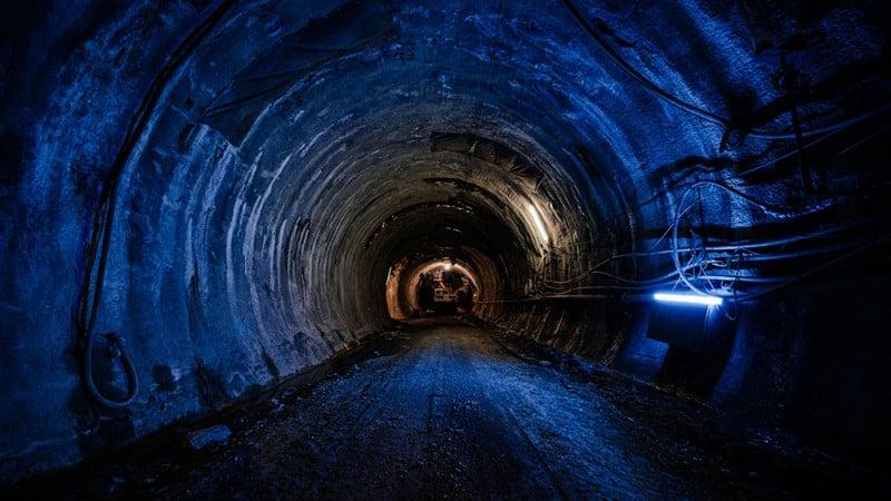 Blick in die Tunnelröhre von Stuttgart 21