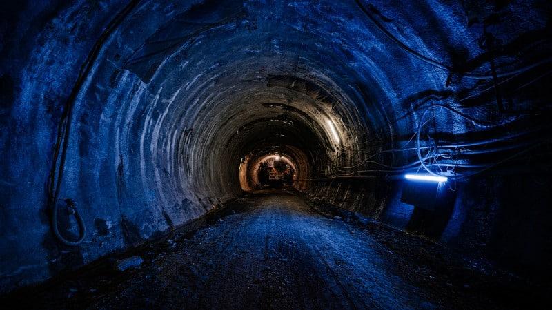 Stuttgart 21: Blick durch Tunneluntergrabung