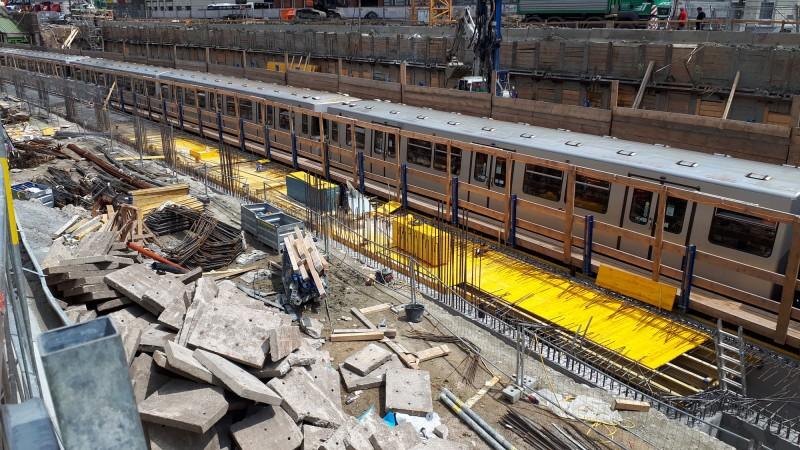 U4 Pilgramgasse: Bauarbeiten im U-Bahn-Schacht