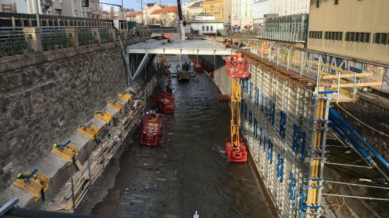 U4 Pilgramgasse: Bauarbeiten in Wienzeile