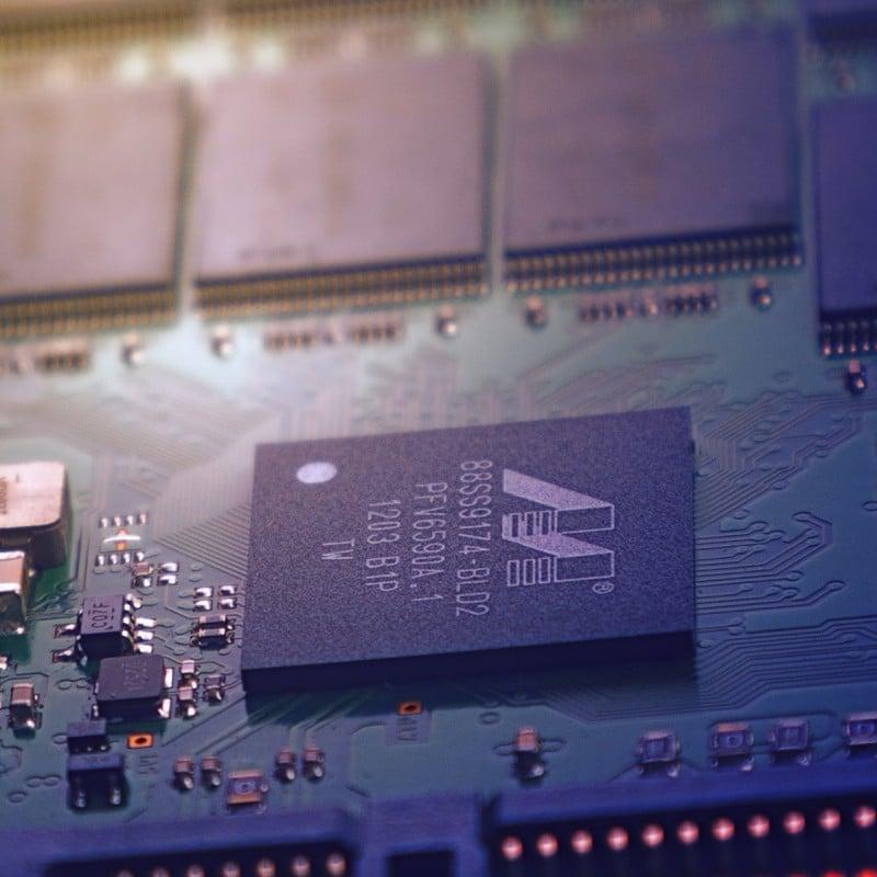Detailansicht einer Festplatte