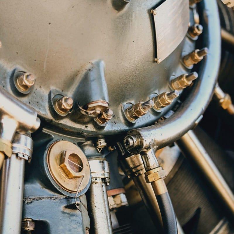 Detailansicht einer Anlagenmechanik