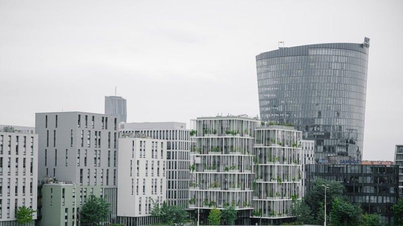 Viertel Zwei Panorama-Ansicht