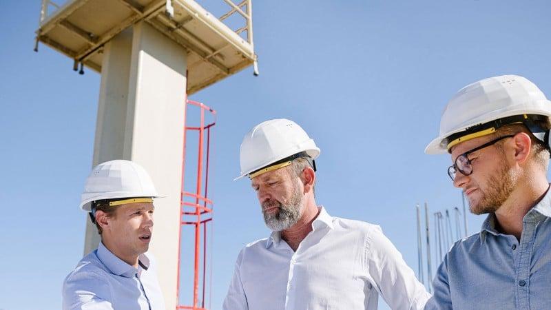 Value Chain Management - Mitarbeiter er HABAU GROUP auf er Baustelle